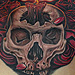 Skull Chest Tattoo Tattoo Design Thumbnail